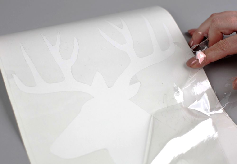 Silhouette textilfesték használatának bemutatása, 2. lépés