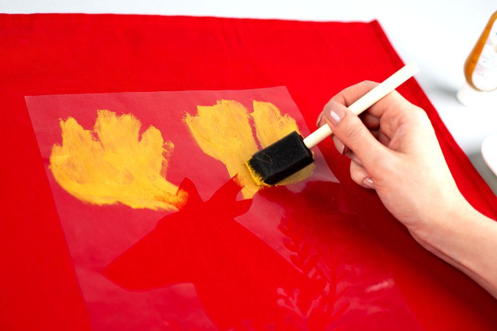 Silhouette textilfesték használatának bemutatása, 6. lépés