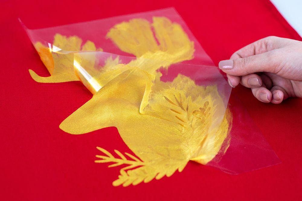 Silhouette textilfesték használatának bemutatása, 7. lépés