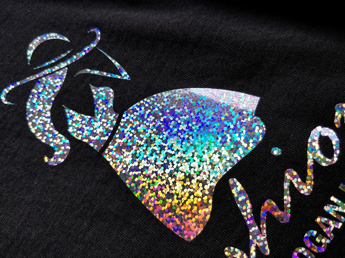 Silhouette csillám vasalható flex minta