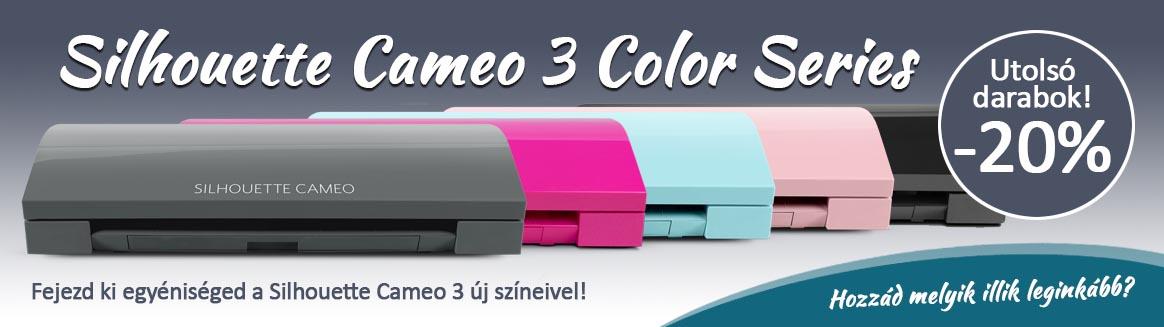 A Silhouette Cameo 3 különböző színekben