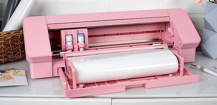 Rózsaszín Silhouette Cameo 4 tekercstartóval